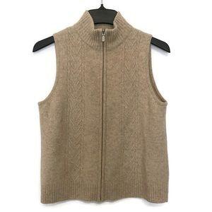 Pendleton Vest Full Zip 100% Lambs Wool Knit